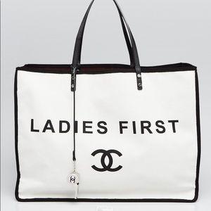 3d8f14f5102a Women s Chanel Canvas Tote Bag on Poshmark